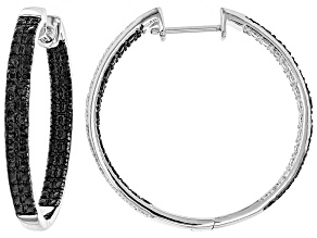 Black Diamond Rhodium Over Sterling Silver Earrings 0.25ctw