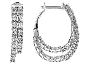 White Diamond 10K White Gold Earrings 1.00ctw