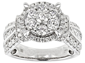 White Diamond 10K White Gold Ring 1.95ctw