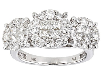 Picture of White Diamond 14K White Gold Ring 2.00ctw