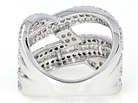 White Diamond 10K White Gold Ring 1.60ctw