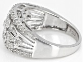 White Diamond Rhodium Over Sterling Silver Ring 0.70ctw