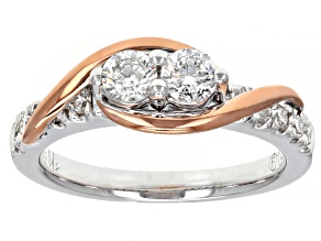 White Diamond 14K Two-Tone Gold Ring 0.50ctw