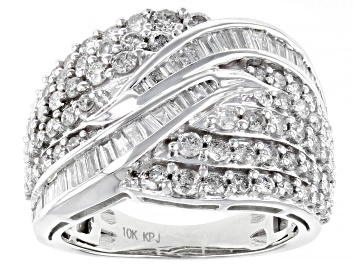 Picture of White Diamond 10K White Gold Ring 2.00ctw