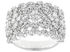 White Diamond 14K White Gold Ring 1.66ctw