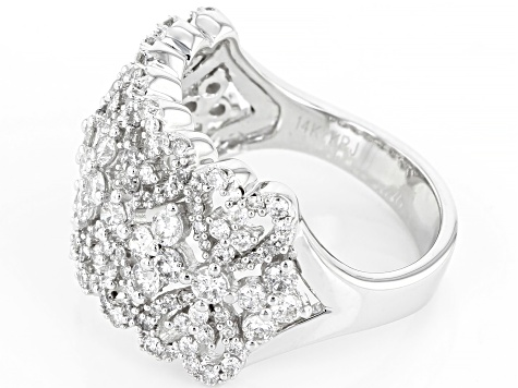 White Diamond 14K White Gold Ring 1.66ctw