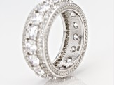 White Cubic Zirconia Rhodium Over Sterling Silver Ring 8.60ctw