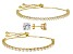 White Cubic Zirconia 18k Yellow Gold Over Sterling Silver Bracelets And Earrings 16.32ctw