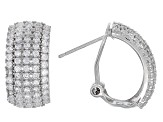 White Cubic Zirconia Rhodium Over Sterling Silver Ring And Earrings 5.38ctw