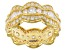 White Cubic Zirconia 18K Yellow Gold Over Silver Ring 5.50ctw