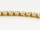 white cubic zirconia 18k yg over sterling silver bracelet 12.50ctw