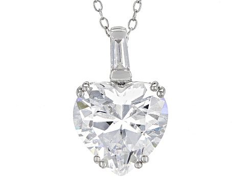 White Cubic Zirconia Rhodium Over Sterling Silver Jewelry Set 33.00ctw
