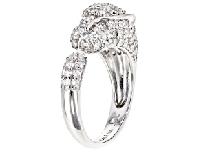 White Cubic Zirconia Rhodium Over Sterling Silver Ring 2.65ctw