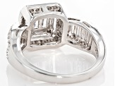 White Cubic Zirconia Rhodium Over Sterling Silver Ring 2.32ctw