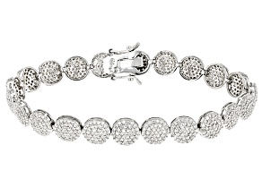 White Cubic Zirconia Rhodium Over Sterling Silver Bracelet 9.43ctw