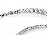 White Cubic Zirconia Rhodium Over Sterling Silver Graduated Necklace 41.28ctw
