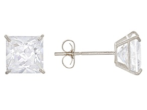 White Cubic Zirconia 14k Wg Earrings 2.50ctw