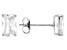 White Cubic Zirconia 14k Wg Earrings 1.35ctw