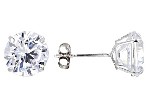 White Cubic Zirconia 14k Wg Earrings 4.00ctw