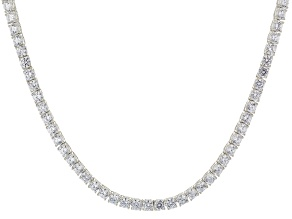 White Cubic Zirconia Rhodium Over Sterling Silver Necklace 33.00ctw