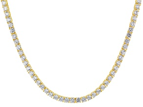 White Cubic Zirconia 18k Yg Over Sterling Silver Necklace 33.00ctw