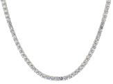 White Cubic Zirconia Rhodium Over Sterling Silver Necklace 41.00ctw