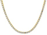 White Cubic Zirconia 18k Yg Over Sterling Silver Necklace 41.00ctw
