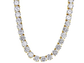 white cubic zirconia 18k yg over sterling silver necklace 100.00ctw