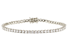 White Cubic Zirconia Rhodium Over Sterling Silver Bracelet 9.80ctw