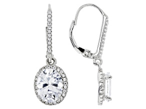 White Cubic Zirconia Rhodium Over Sterling Silver Earrings 2.93ctw