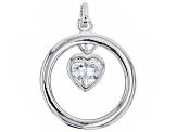 White Cubic Zirconia Rhodium Over Sterling Silver Set of 4 Pendants With Chain 6.25ctw