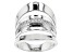 white cubic zirconia rhodium over sterling silver ring 0.35ctw