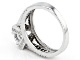 White Cubic Zirconia Rhodium Over Sterling Silver Ring 2.68ctw