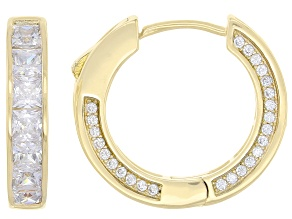 White Cubic Zirconia 18k Yg Over Sterling Silver Earrings 9.60ctw
