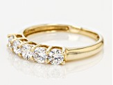 White Cubic Zirconia 14k Yellow Gold Ring 1.75ctw