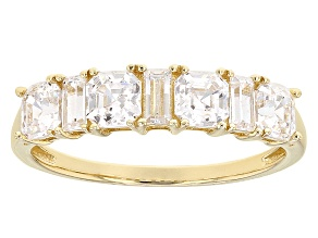 White Cubic Zirconia 14k Yellow Gold Ring 3.00ctw