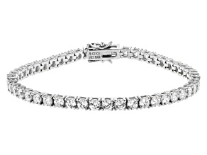 White Cubic Zirconia Platinum Over Sterling Silver Bracelet 15.00ctw