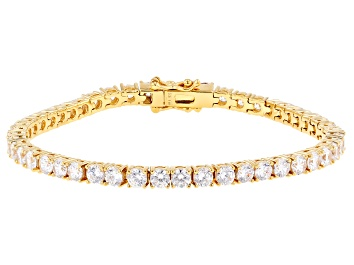 Picture of White Cubic Zirconia 18k Yellow Gold Over Sterling Silver Bracelet 15.00ctw