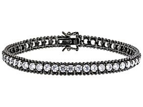 White Cubic Zirconia Black Rhodium Over Sterling Silver Bracelet 16.00ctw