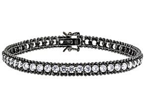 White Cubic Zirconia Black Rhodium Over Sterling Silver Bracelet 16.00ctw