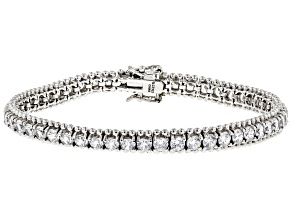 White Cubic Zirconia Rhodium Over Sterling Silver Bracelet 16.00ctw