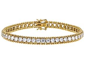 White Cubic Zirconia 18k Yg Over Sterling Silver Bracelet 16.00ctw