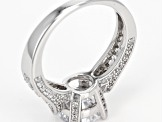 White Cubic Zirconia Rhodium Over Sterling Silver Ring 4.85ctw