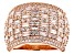 White Cubic Zirconia 18k Rose Gold Over Sterling Silver Ring 4.86ctw