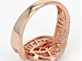 white cubic zirconia 18k rose gold over sterling silver ring 1.67ctw