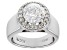 White Cubic Zirconia Platinum Over Sterling Silver Ring 2.47ctw