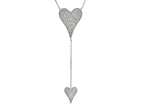 White Cubic Zirconia Rhodium Over Sterling Silver Necklace 1.99ctw