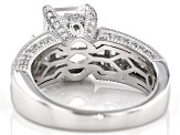White Cubic Zirconia Rhodium Over Sterling Silver Ring 7.90ctw