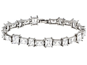 white cubic zirconia rhodium over sterling silver bracelet 52.60ctw
