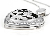 White Cubic Zirconia Rhodium Over Sterling Silver Pendant With Chain 1.23ctw